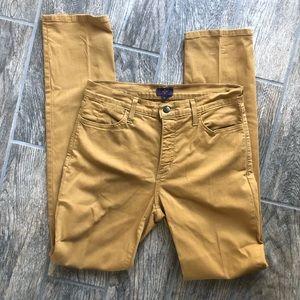 NYDJ Mustard Yellow Straight Leg Pant